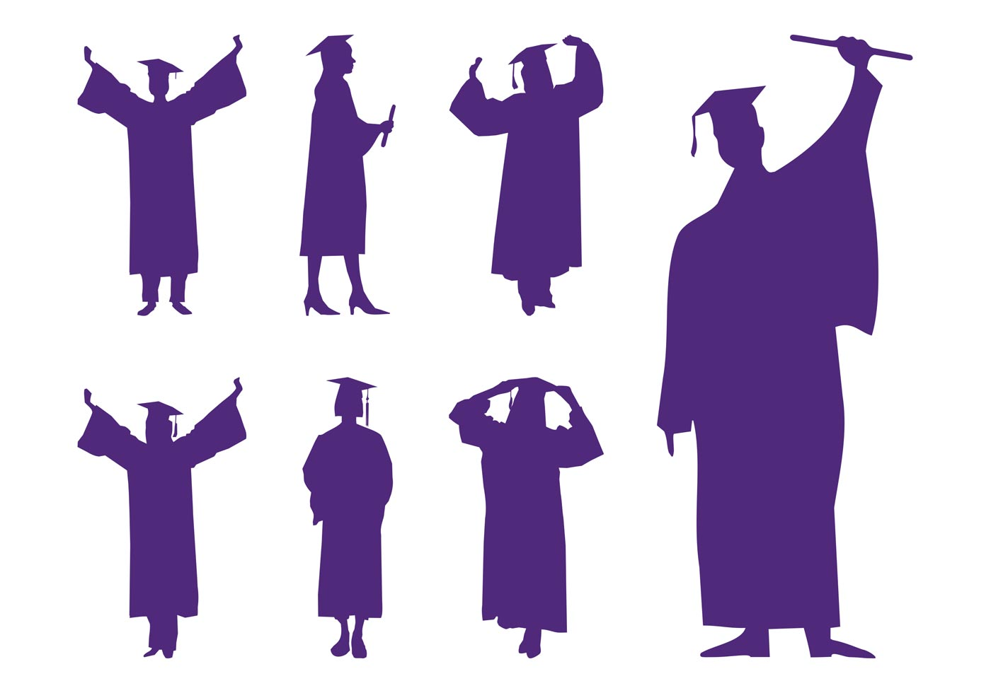 Graduation Silhouettes - Download Free Vector Art, Stock ...