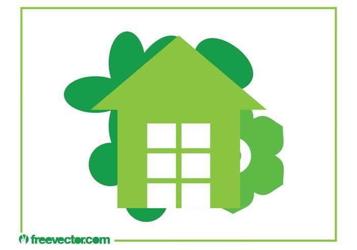 Öko-Haus-Logo vektor