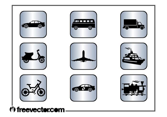 Square Transport Icons