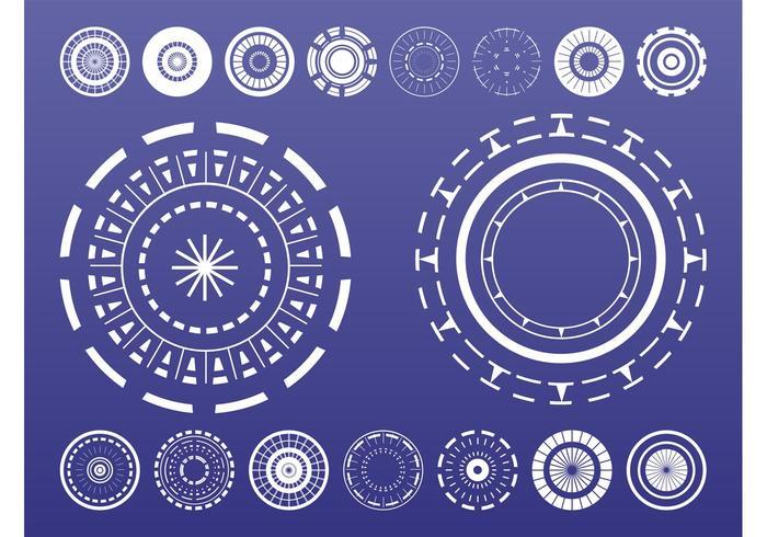 Abstract Circles Set
