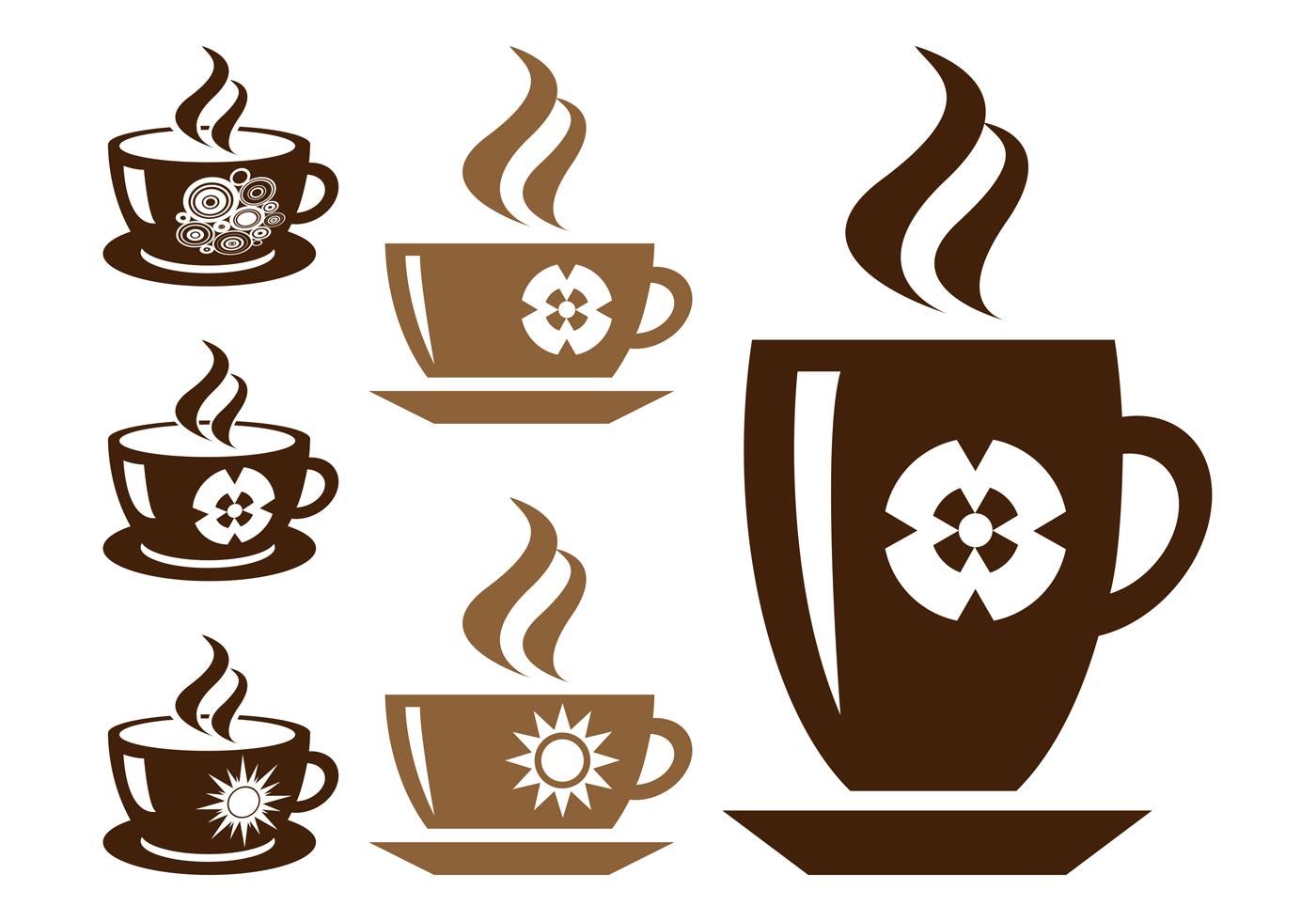 Conjunto De Siluetas De Tazas De Café