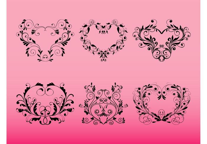 Romantic Floral Scrolls
