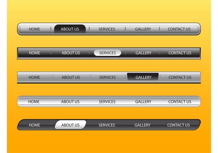 Web Navigation Bars Set