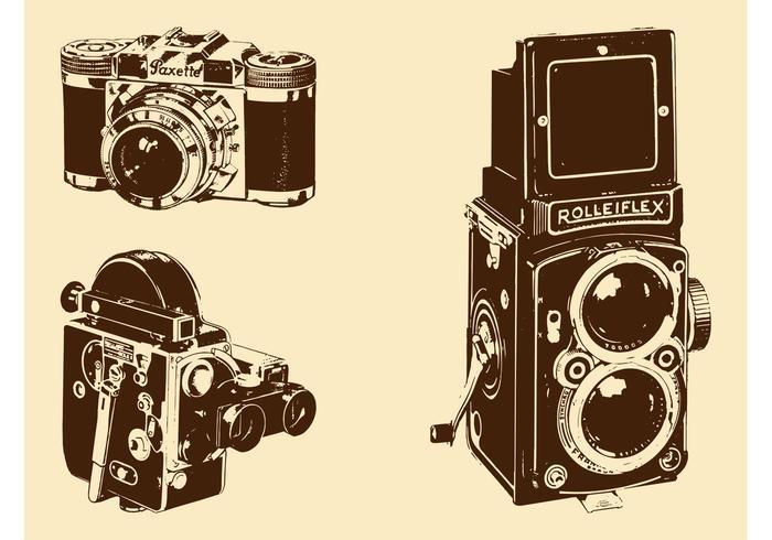 Retrokameror Set