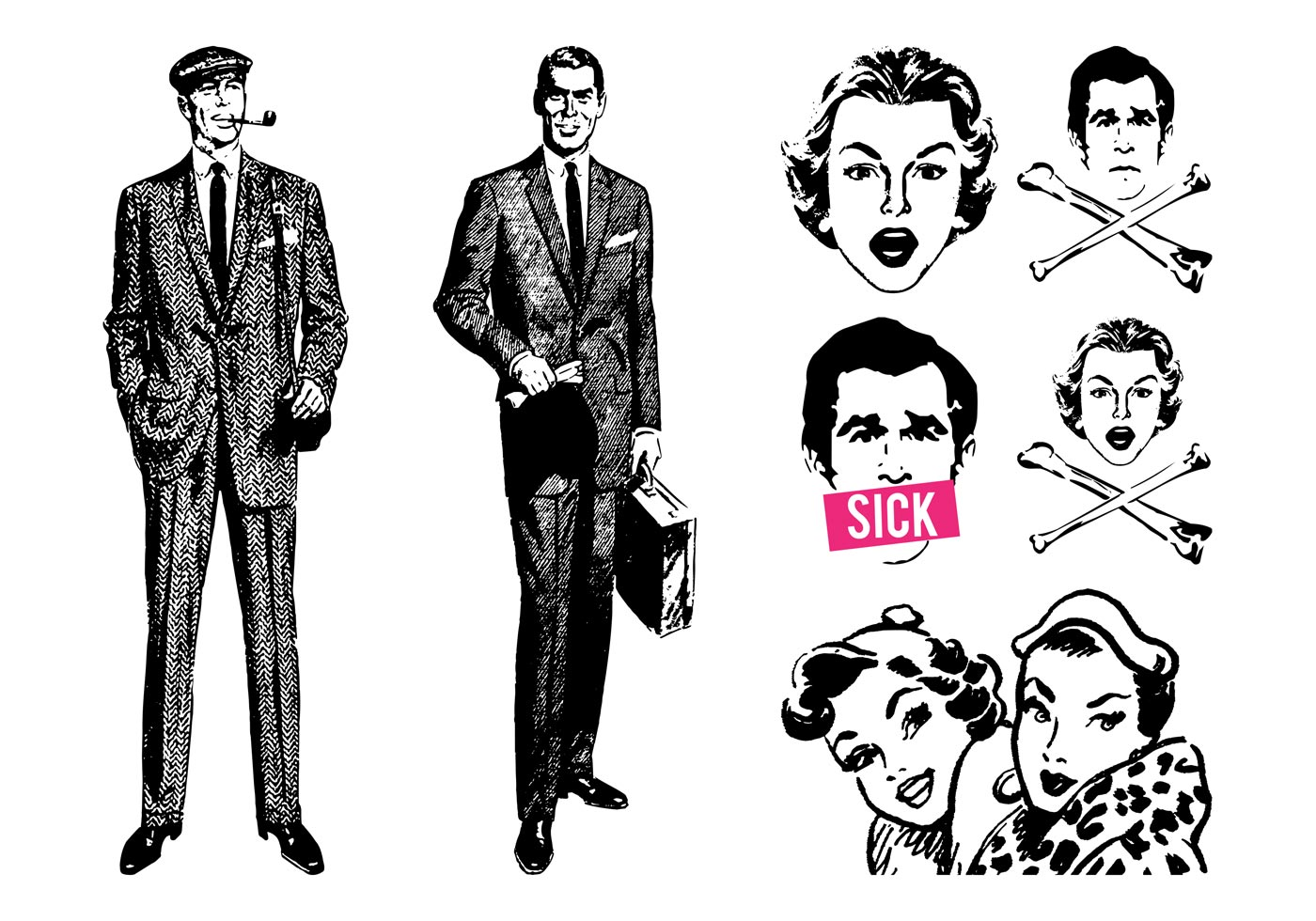 Retro vector people