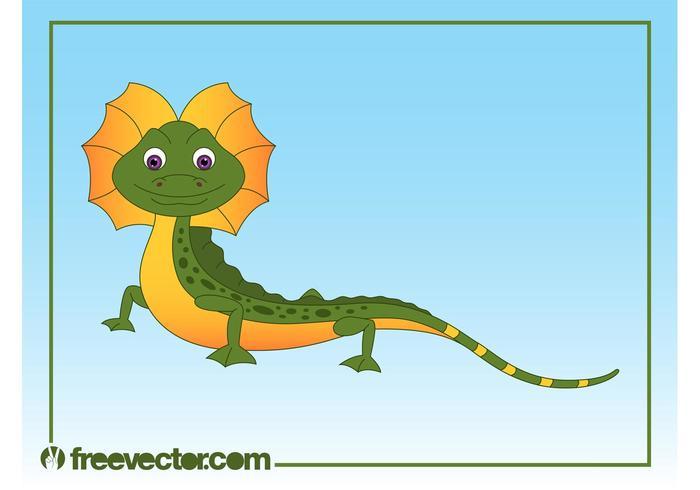 Happy Cartoon Lizard