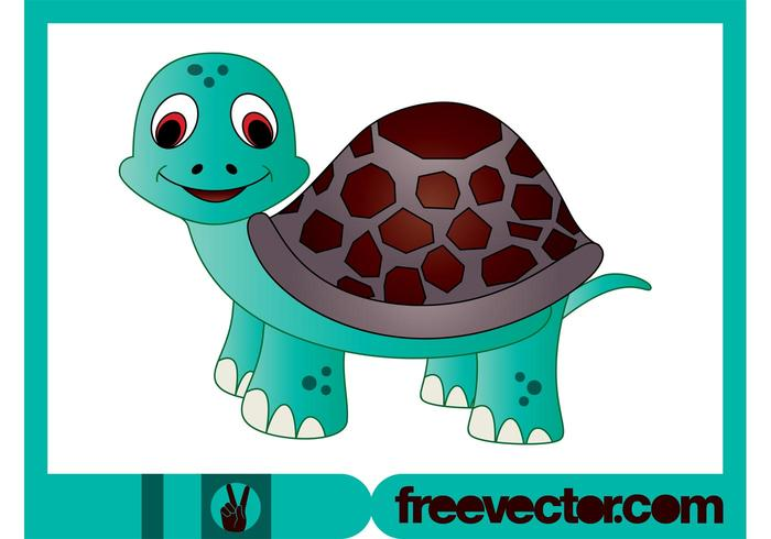 Cartoon Turtle Character