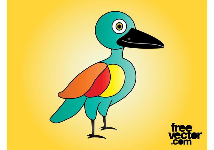 Colorful Cartoon Bird