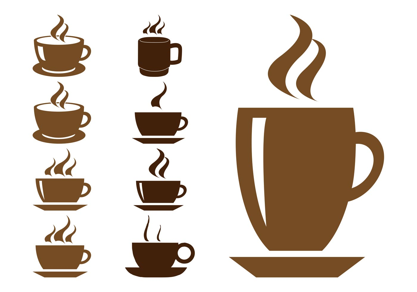 coffee cups graphics download free vector art stock