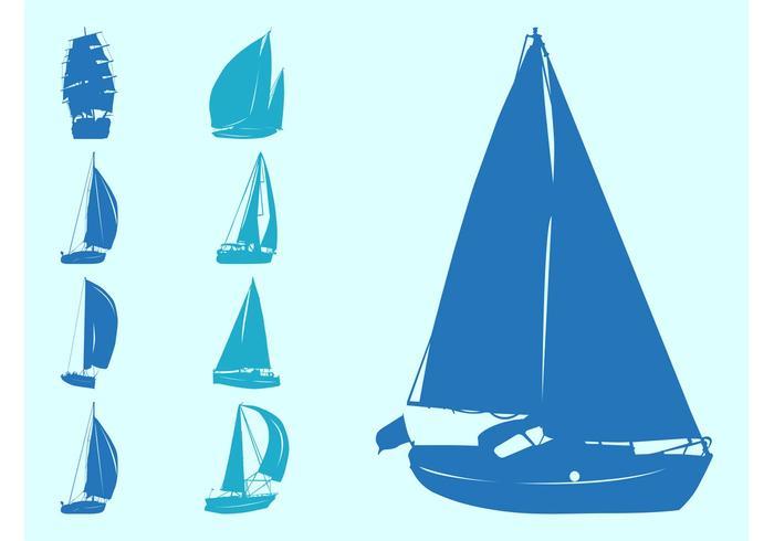 Siluetas de barcos gráficos