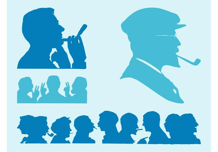 Face Silhouettes Set