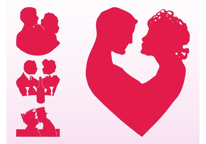 Couples In Love Silhouettes