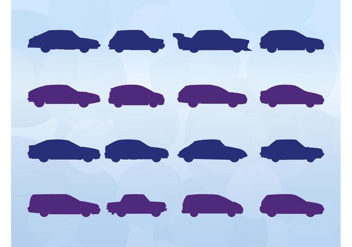 Cars Silhouettes Set
