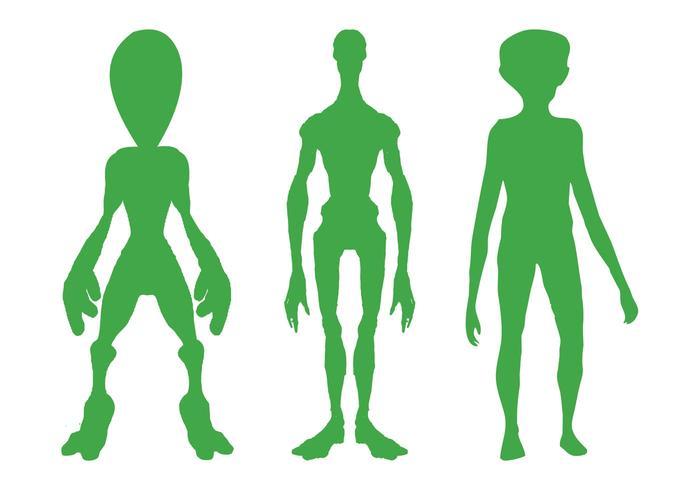 Alien Silhouettes Set