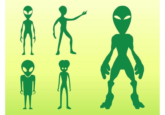 Aliens Silhouettes Set