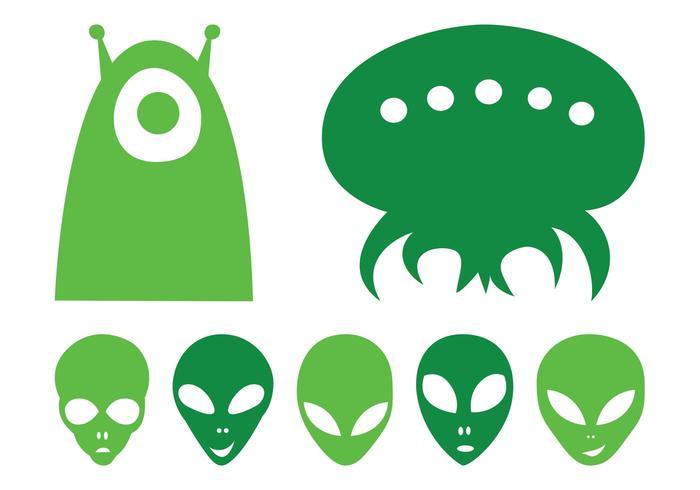 Alien Heads Set