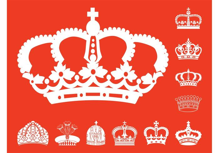 Crowns Silhouettes Set