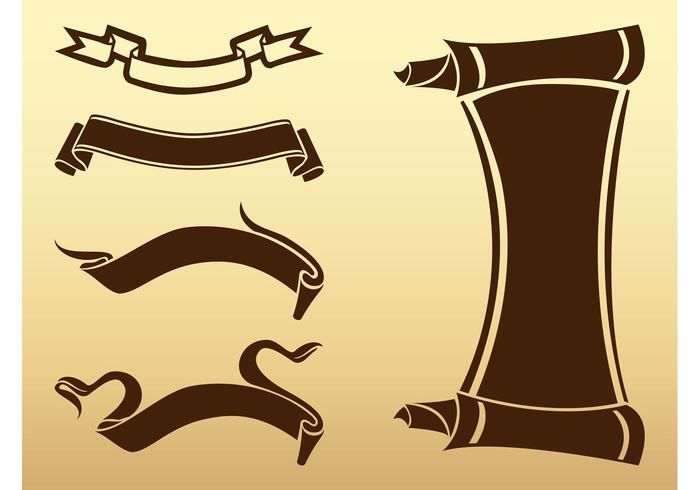 old ribbons and scrolls download free vector art stock graphics rh vecteezy com scroll vector free to download scroll vector art