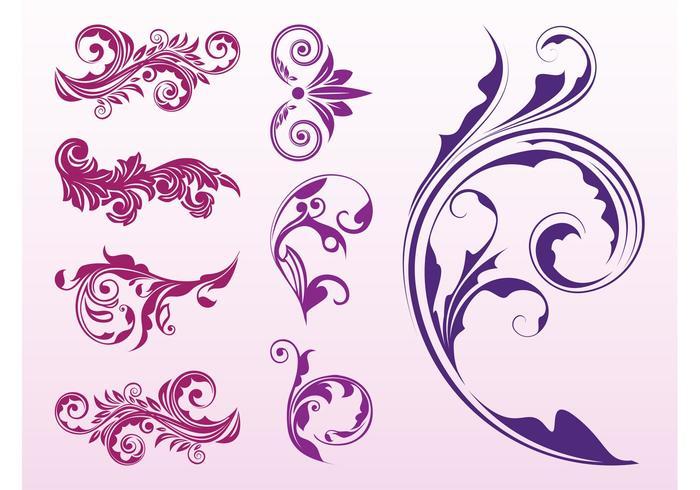 Floral Scrolls Set