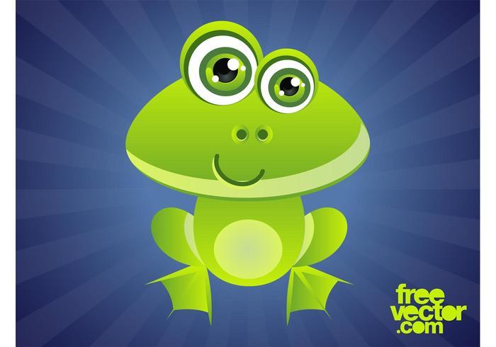 Smiling Cartoon Frog