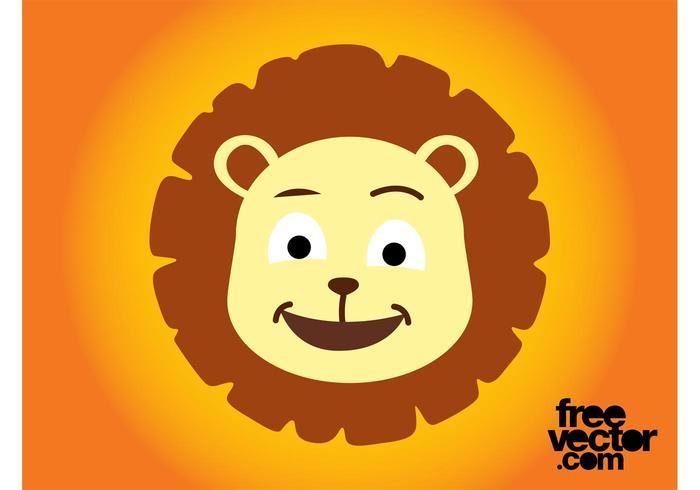 Cartoon Lion Head