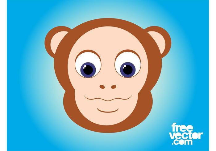 Cartoon Monkey Head