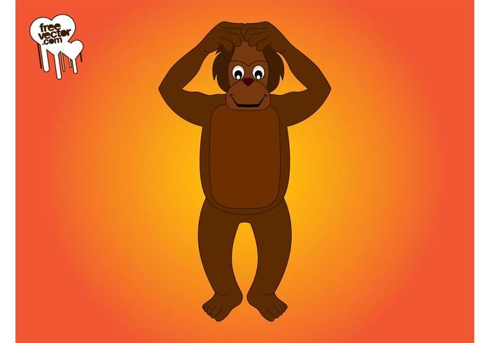 Cartoon Monkey Character