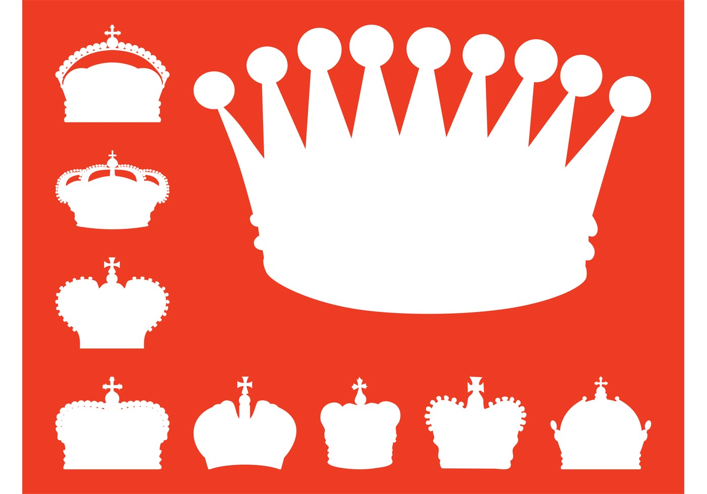 crowns silhouettes download free vector art stock