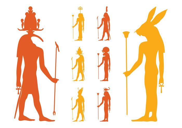 Ensemble de dieux égyptiens