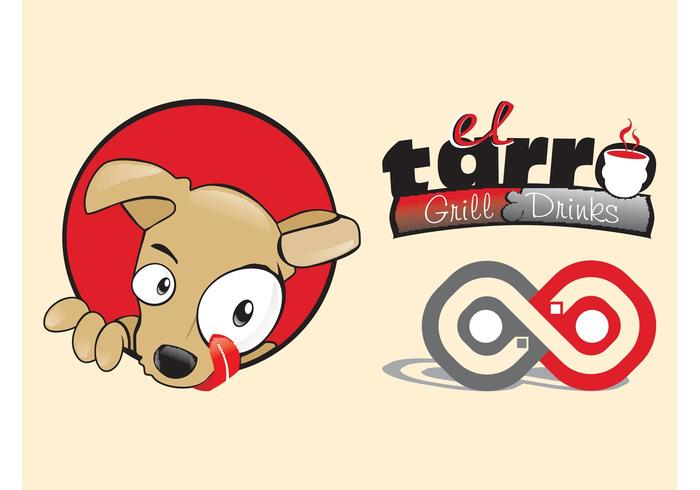 Restaurant Logo With Dog
