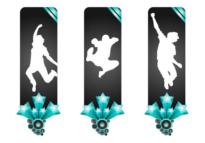 Banners With Jumping People