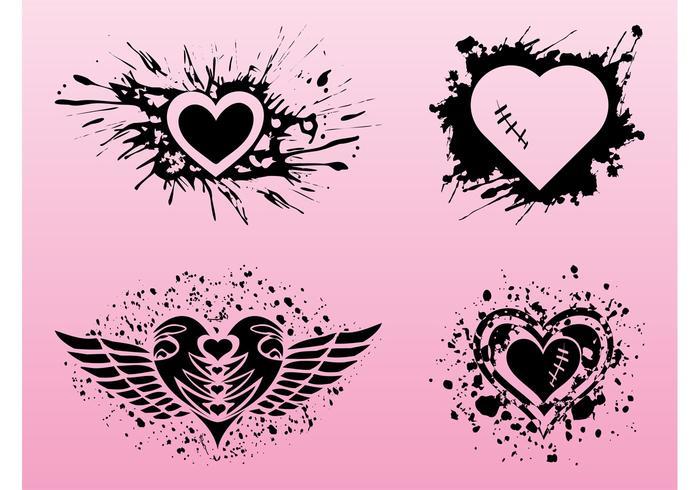 Grunge Hearts Designs