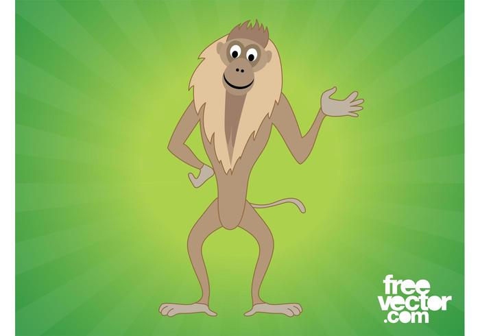 Happy Monkey Cartoon Character