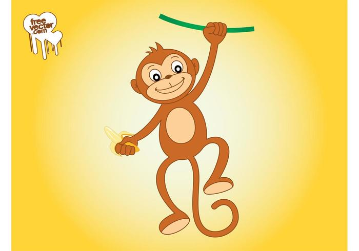 Monkey With Banana Graphics