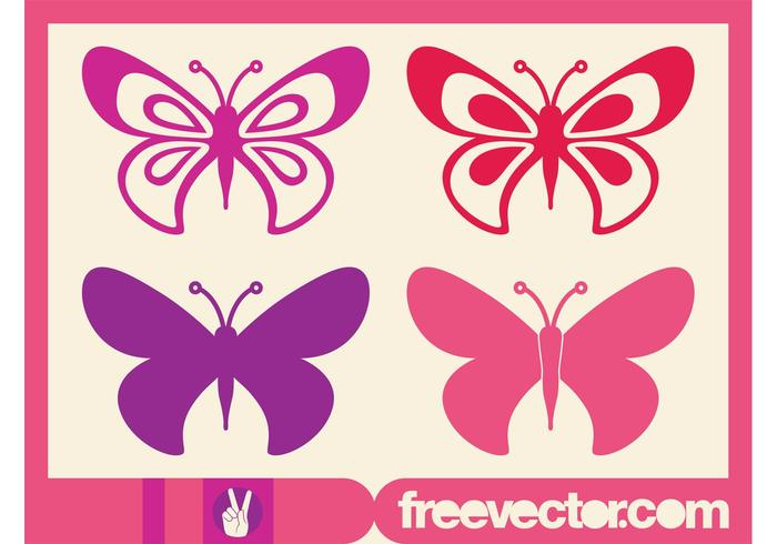 Butterflies Graphics Set