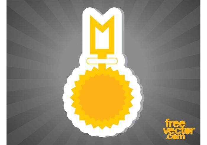 Gold Medal Sticker