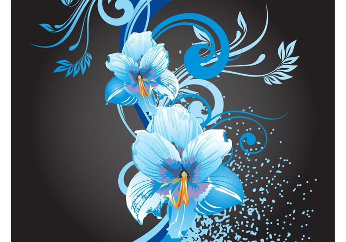 Blue Flowers Graphics