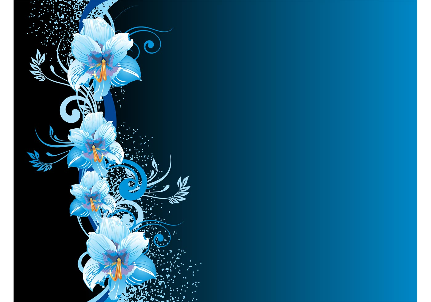 blue flowers background download free vector art stock