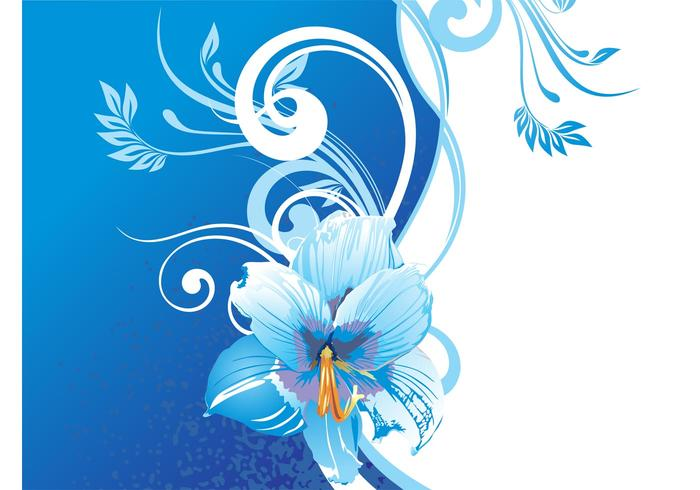 Background With Blue Flowers