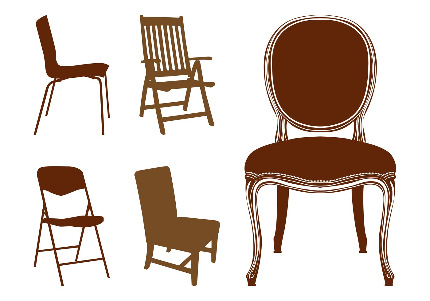 Chairs Silhouettes Download Free Vector Art Stock