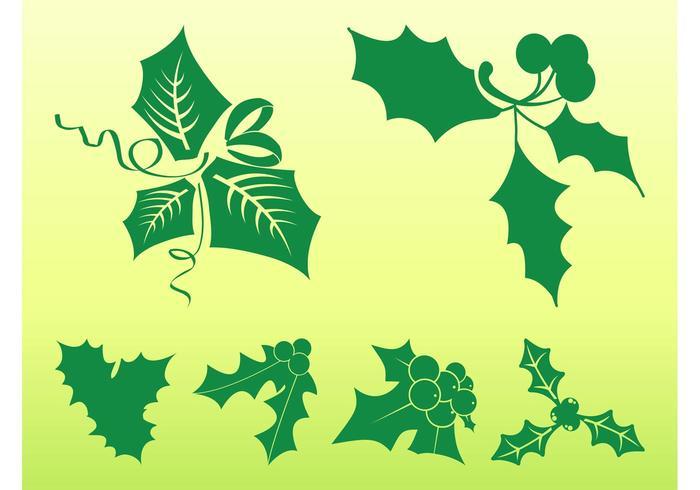 Mistletoe Leaves Set