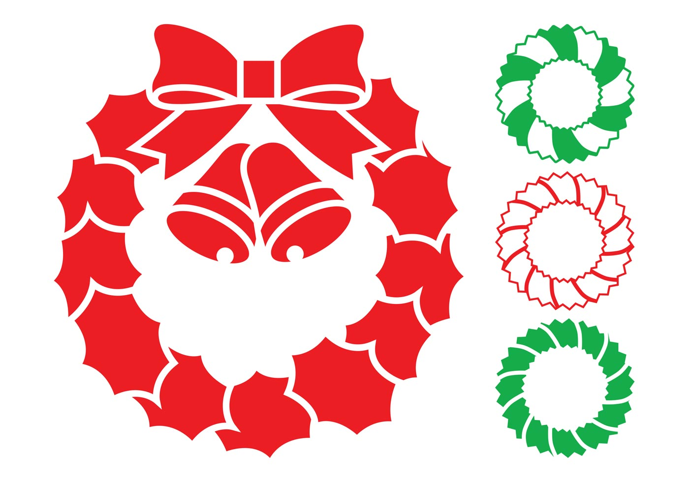 Christmas Wreaths Graphics - Download Free Vector Art ...