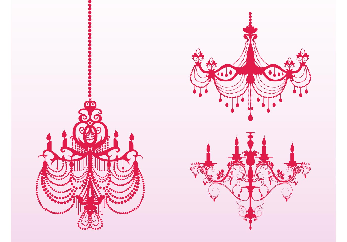 Antique Chandeliers Silhouettes