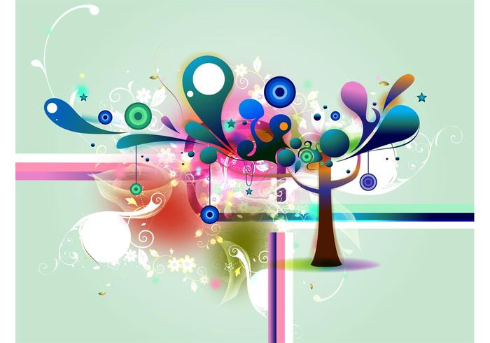 Abstract Tree Background