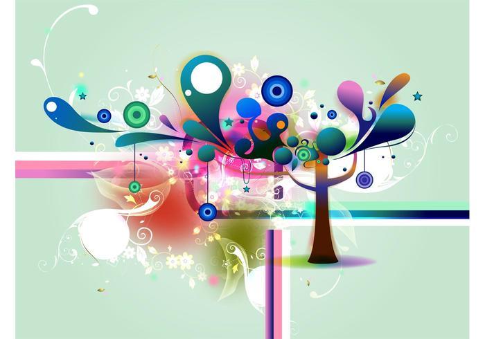 Fondo abstracto del árbol