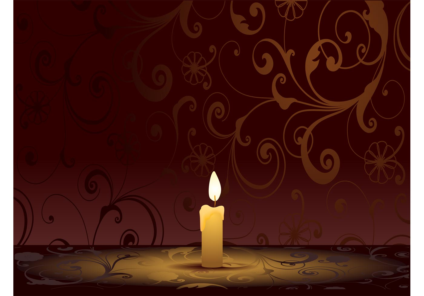 Burning Candle Graphics Download Free Vector Art Stock