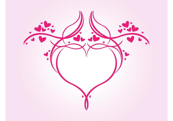 Gráficos románticos del corazón - Descargue Gráficos y Vectores Gratis