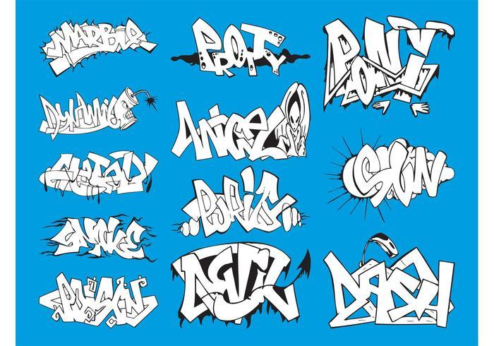 Graffiti Graphics Set