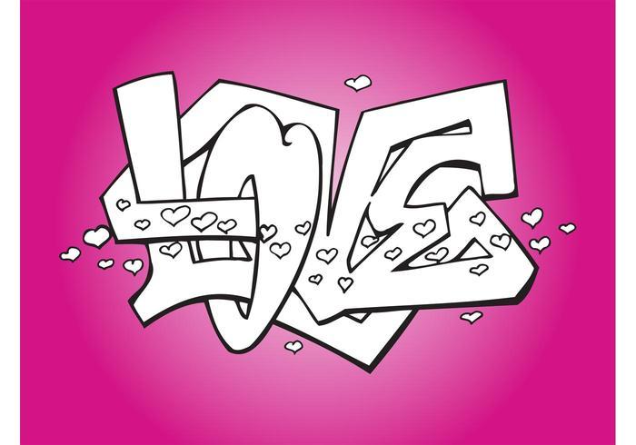 Romantic Love Graffiti