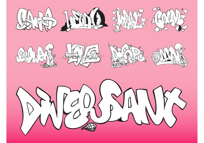 Vector Graffiti Set